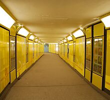 yellow tunnel by Janis Read-Walters