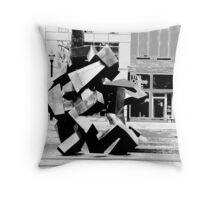 Ethic black and white Throw Pillow
