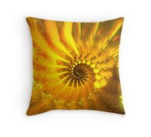 Bright shining spiral Throw Pillow