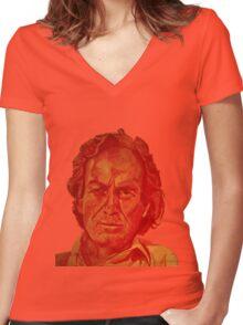 Richard Feynman Women's Fitted V-Neck T-Shirt