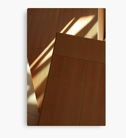 Wood Panel Shadowed Abstract Canvas Print
