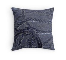 Blue Marine Rope Throw Pillow
