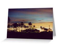 Sunset in Harmon, Guam  Greeting Card