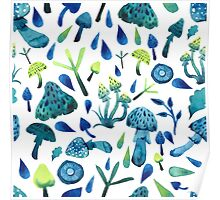 - Mushrooms pattern - Poster
