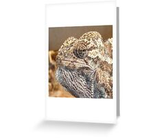 Chameleon with Attitude Greeting Card