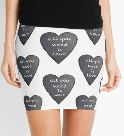 All You Need Is Love Mini Skirt