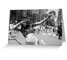 Baby Dyke - Photojournalism Portrait in Black and White Greeting Card