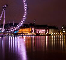 Big Wheels Keep on Turning: The London Eye at Night by DonDavisUK