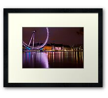 Big Wheels Keep on Turning: The London Eye at Night Framed Print