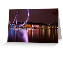 Big Wheels Keep on Turning: The London Eye at Night Greeting Card