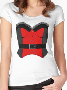 Red Corset Women's Fitted Scoop T-Shirt