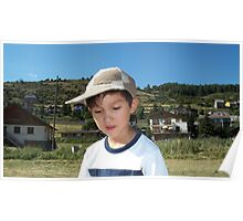 My grandson at the mountains Poster