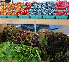 Fruit and Greens at the Market by annimoonsong