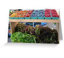 Fruit and Greens at the Market Greeting Card