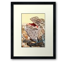 The Singing Chameleon Framed Print