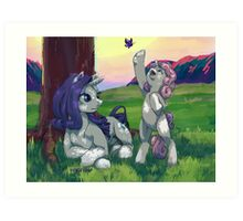Evening with Sweetie belle Art Print
