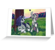 Evening with Sweetie belle Greeting Card
