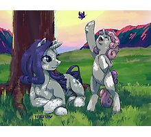 Evening with Sweetie belle Photographic Print