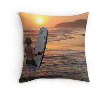 The Final Surf Throw Pillow