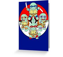Ninja Squirtle Greeting Card