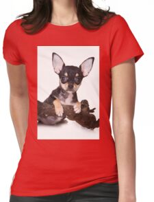 chihuahua puppy Womens Fitted T-Shirt