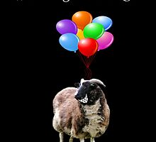 Whatever Floats Your Goat (black) by Ladymoose