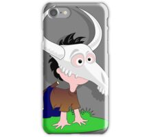 Drawing child funny Capricorn goat skull iPhone Case/Skin