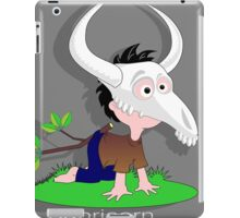 Drawing child funny Capricorn goat skull iPad Case/Skin