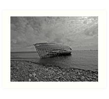 Marooned boat at Roa Art Print