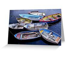 Mevagissy boats Greeting Card