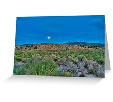 Moon over the desert Greeting Card