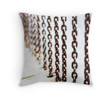 chain-rail Throw Pillow
