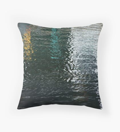 Vertical Reflections Throw Pillow