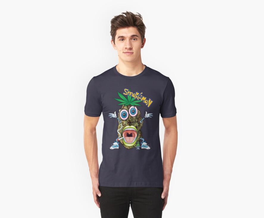 Smokemon Marijuana t shirt by bear77
