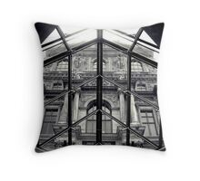 Through the Louvre Throw Pillow