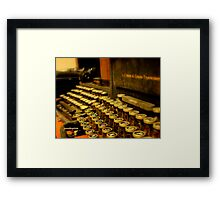 Take A Letter Please... Framed Print