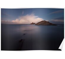 Mumbles lighthouse Swansea Poster