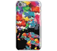 paint elephant iPhone Case/Skin