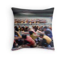 Dragon Boat Race Throw Pillow