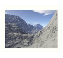 Mountainous landscape Art Print