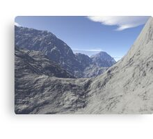 Mountainous landscape Canvas Print