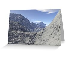Mountainous landscape Greeting Card