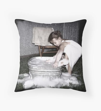 The Wash Tub Throw Pillow