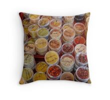Sunday Market Throw Pillow