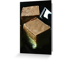 Salted Caramel Millionaire's Shortbread Greeting Card