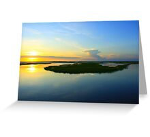 Sunset over the Horizon Greeting Card
