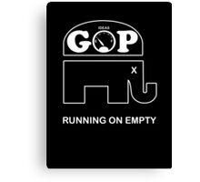 GOP -- Running on Empty Canvas Print