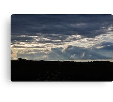 Clouds and Rays Canvas Print