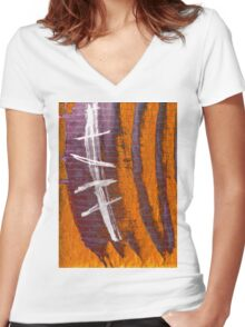 spine Women's Fitted V-Neck T-Shirt