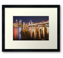 Portland City Skyline Framed Print